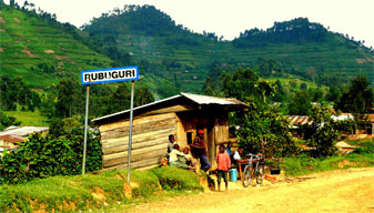 The friendly village of Rubuguri, just outside the  Bwindi Impenetrable Forest
